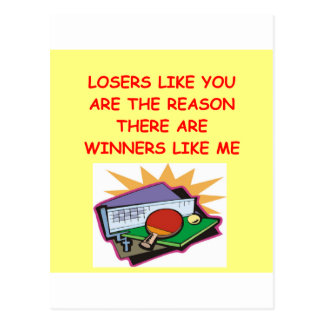 ganadores divertidos y chiste de los perdedores postal
