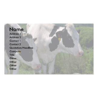 Ganados lecheros de Holstein Tarjetas De Visita