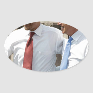 Ganamos - los triunfos de Obama Calcomanías Ovaladas