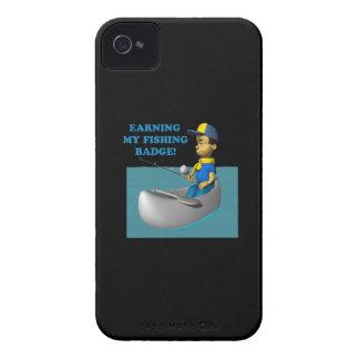Ganancia de mi insignia 2 de la pesca iPhone 4 Case-Mate protectores