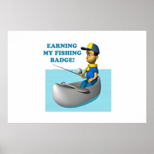 Ganancia de mi insignia 2 de la pesca posters