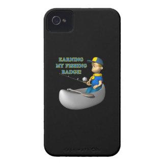 Ganancia de mi insignia de la pesca iPhone 4 cárcasas