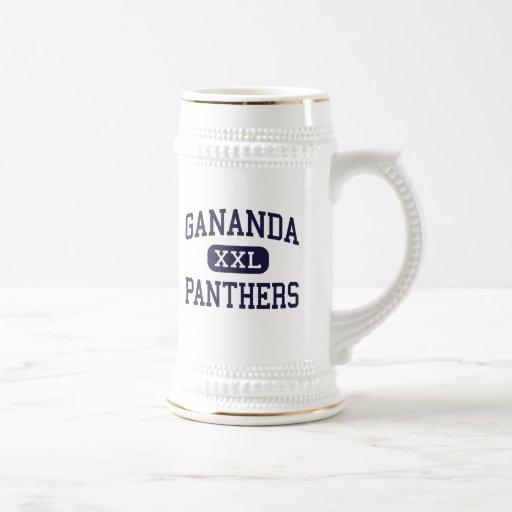 Gananda - panteras - alto - Walworth Nueva York Tazas