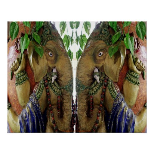 Ganapati carrying holy water poster