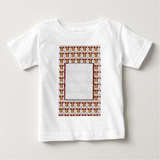 GANAPATI Ganesh : Crystal White Border Text Image Shirts