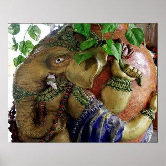 Ganapati Ganesh: La deidad de la cabeza del elefan Posters