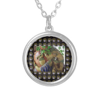 Ganapati Ganesh with Ganga Jal Vessel Silver Plated Necklace