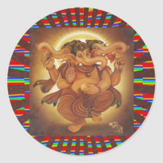 Ganapati Ganesha : HINDUISM Studies n Display GIFT Round Stickers