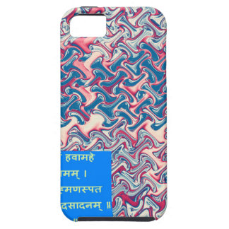 Ganapati Sanskrit Mantra Prayer Symbolic Text Gift iPhone 5 Cases