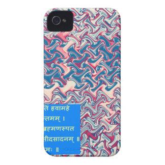 Ganapati Sanskrit Mantra Prayer Symbolic Text Gift iPhone 4 Case-Mate Case