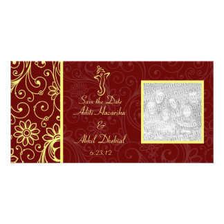 Ganapati Wedding Save the Date Photo Cards