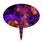 Ganchillo anaranjado púrpura Zizzago del metal del Decoración De Tarta