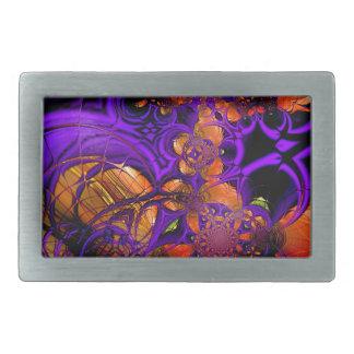 Ganchillo anaranjado púrpura Zizzago del metal del Hebillas De Cinturon Rectangulares