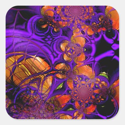 Ganchillo anaranjado púrpura Zizzago del metal del Colcomanias Cuadradases
