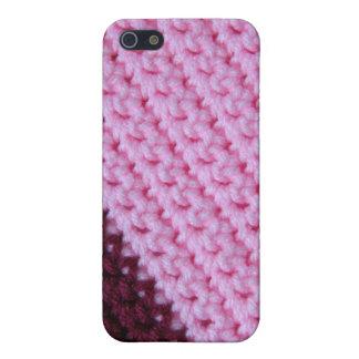Ganchillo color de rosa y del vino iPhone 5 cárcasas