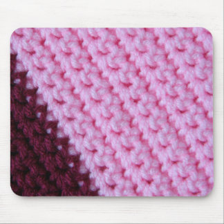 Ganchillo color de rosa y del vino tapetes de ratones