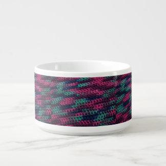 Ganchillo colorido tazón
