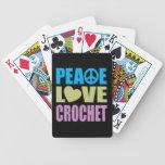 Ganchillo del amor de la paz baraja de cartas