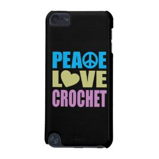 Ganchillo del amor de la paz funda para iPod touch 5G