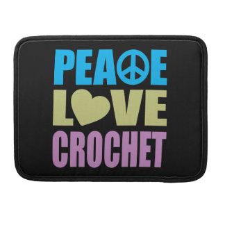 Ganchillo del amor de la paz fundas macbook pro