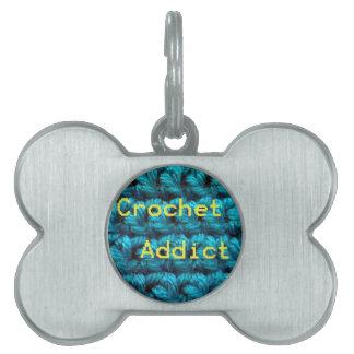 Ganchillo doble del adicto Part2 al ganchillo Placas De Nombre De Mascota