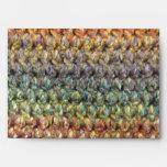 Ganchillo hecho punto rayado multicolor
