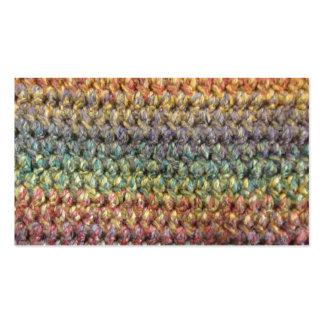 Ganchillo hecho punto rayado multicolor tarjetas de visita
