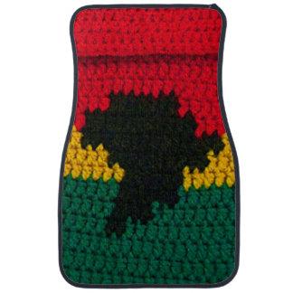 Ganchillo jamaicano de África en la alfombrilla de Alfombrilla De Auto