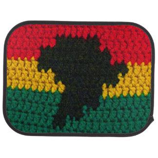 Ganchillo rojo del negro del verde del oro de alfombrilla de auto