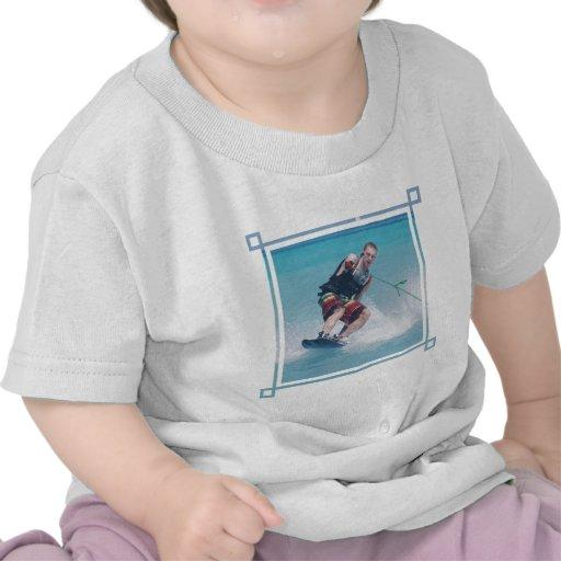 Gancho agarrador de la cola de Wakeboarding Camisetas