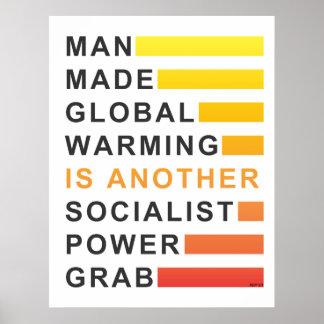 Gancho agarrador socialista del poder póster