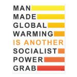 Gancho agarrador socialista del poder tarjeta postal