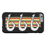 Gancho de pescados hawaiano tribal funda de iPhone 6 barely there