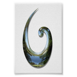 Gancho de pescados maorí - cromo impresiones
