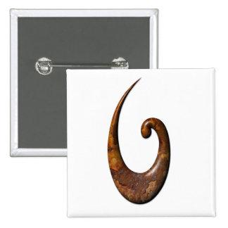 Gancho de pescados maorí - moho pin cuadrada 5 cm