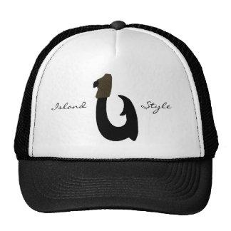 Gancho de pescados negro, isla, gorra del estilo