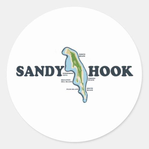 Gancho de Sandy Pegatina Redonda