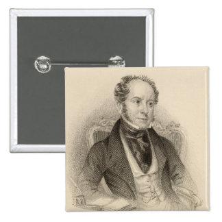 Gancho de Theodore, Esq., grabado por G. Murray Pin Cuadrada 5 Cm