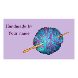 Gancho e hilado hechos a mano por las tarjetas tarjetas de visita