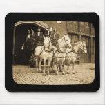 Gancho y compañía de bomberos traídos por caballo  tapetes de ratones