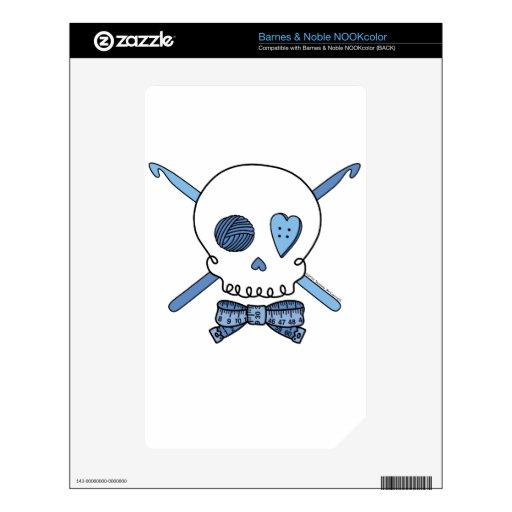 Ganchos del cráneo y de ganchillo (azules) NOOK color skin
