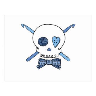 Ganchos del cráneo y de ganchillo azules