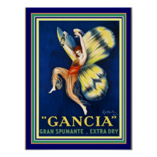 Gancia Ad Poster by Cappiello 12 x 16