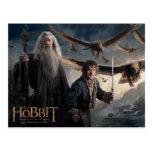 Gandalf, BILBO BAGGINS™, y gran Eagles Tarjetas Postales
