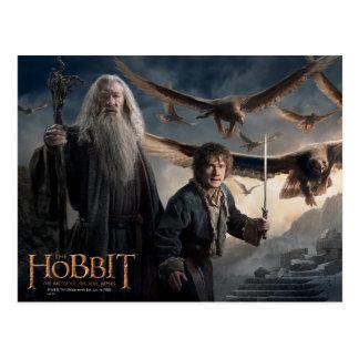 Gandalf, BILBO BAGGINS™, y gran Eagles Tarjeta Postal