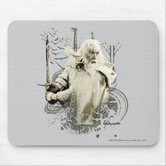 Gandalf con collage del vector de la espada alfombrilla de ratones