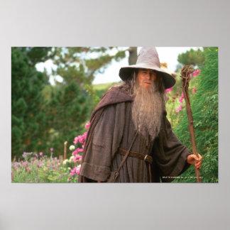 Gandalf con el gorra póster