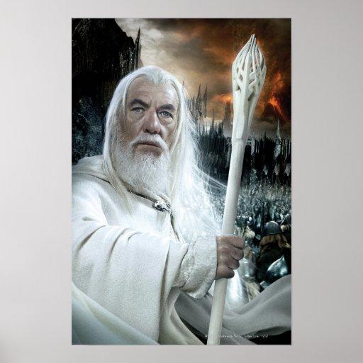 Gandalf con el personal póster
