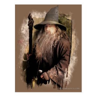 Gandalf con el personal tarjeta postal