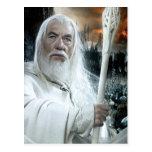 Gandalf con el personal tarjetas postales